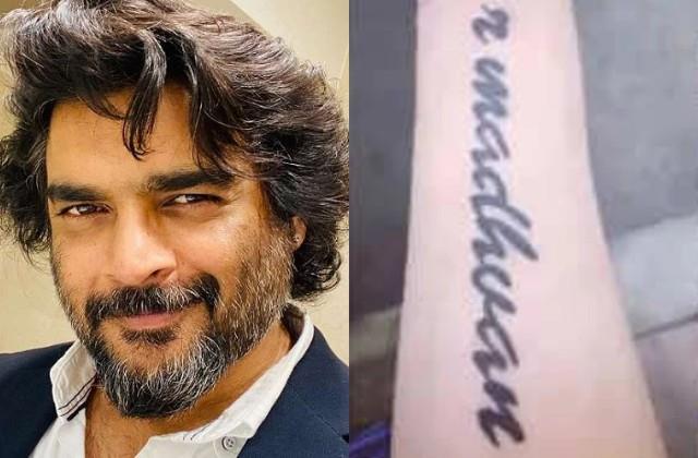 fan got r madhavan name tattooed on hand