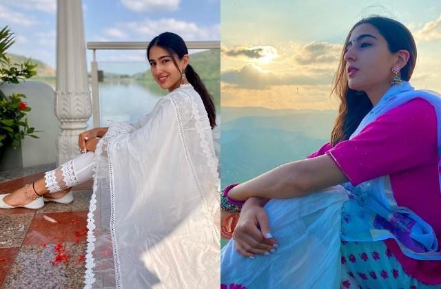 sara ali khan shares udaipur vacation photos