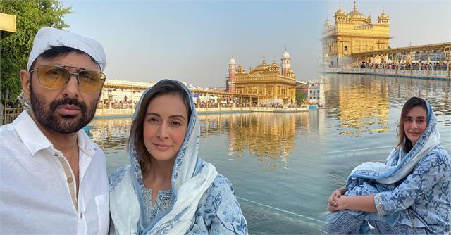 preeti jhangiani visit golden temple with husband parvin dabas