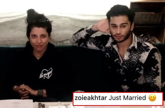 did zoya akhtar secretly marry producer sharic sequeira