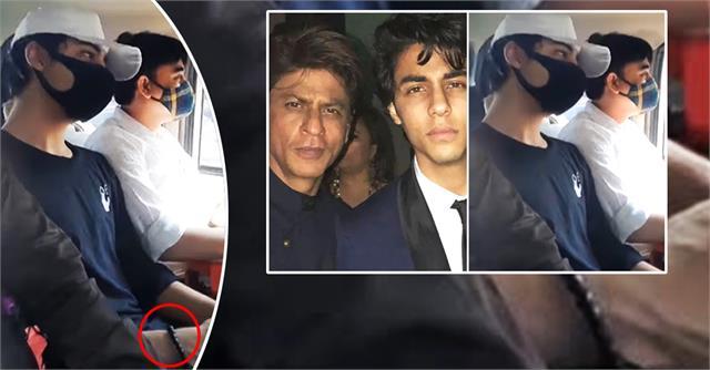 aryan khan hearing toaday hewear black bead bracelet before court trial