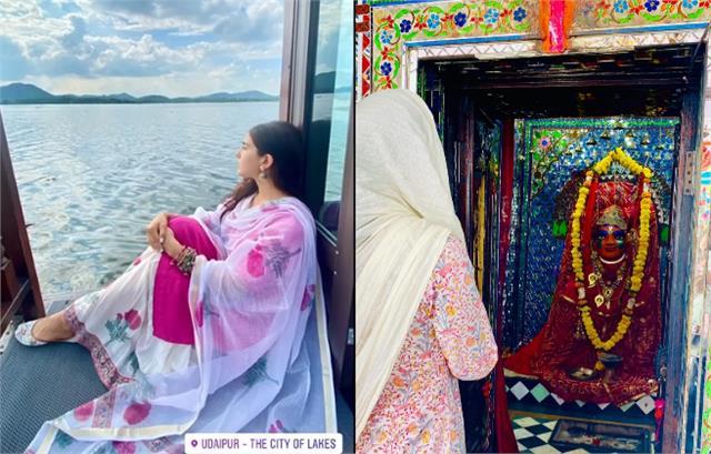 sara ali khan take blessings from shri eklingji temple