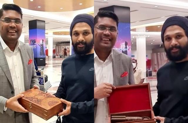 fan gifted 160 year old pistol to allu arjun