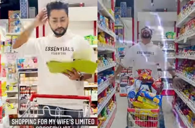zaid darbar confused during grocery shopping for wife gauahar khan