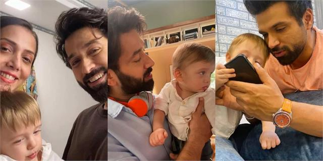 sufi mehta visits father nakul mehta shooting set with mother jankee parekh