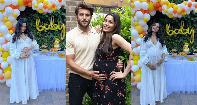 slumdog millionaire fame freida pinto shares pictures from her baby shower