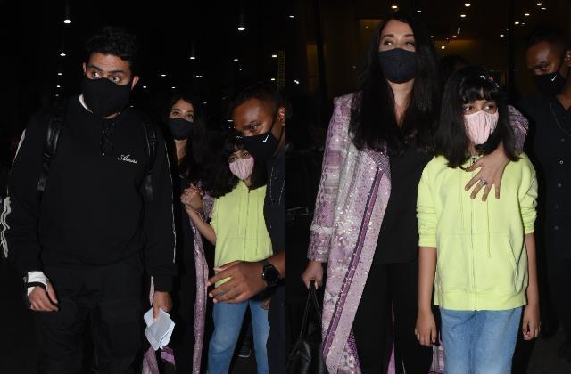 aishwarya abhishek return from paris in time for amitabh bachchan birthday