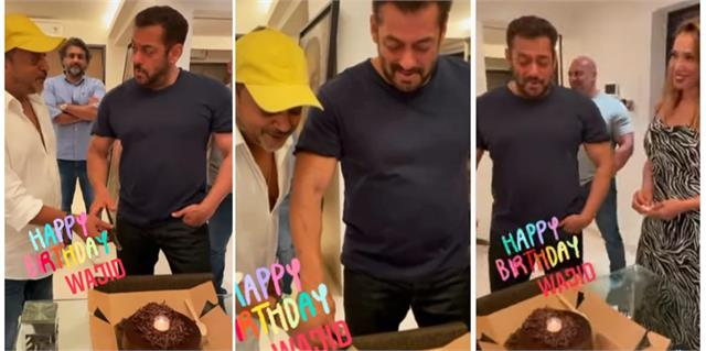 salman khan celebrates sajid khan late brother wajid khan birthday