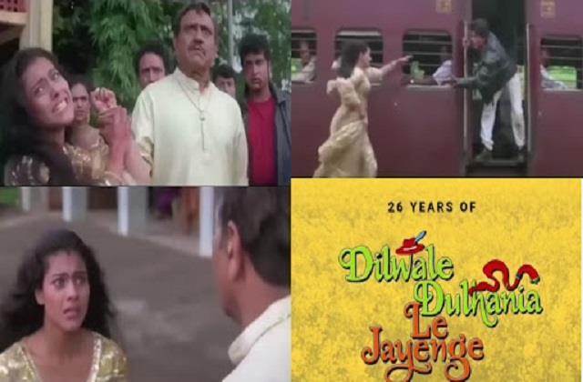 shahrukh khan and kajol film  dilwale dulhania le jayenge  completes 26 years