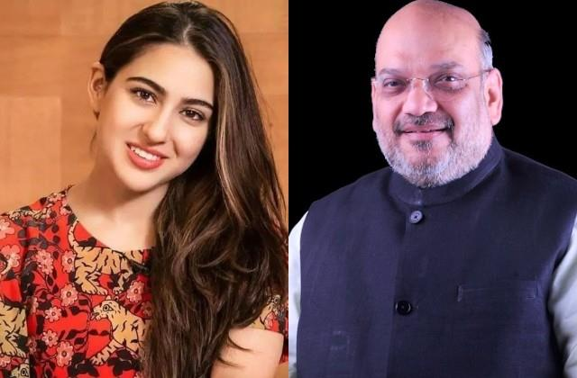 sara ali khan got trolled for wishes birthday to home minister amit shah