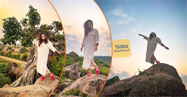 nushrat bharucha got photoshoot enjoying nature
