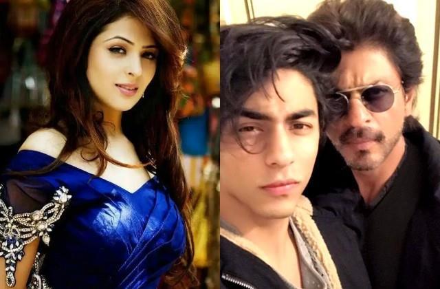 anjana sukhani comes in shahrukh khan support against byju