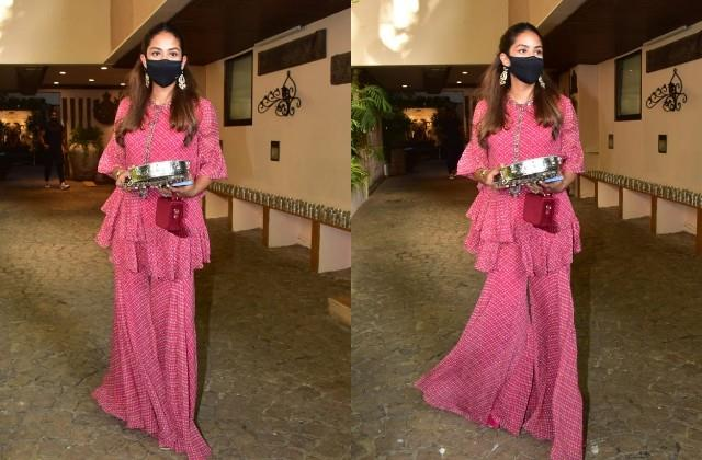 shahid wife mira rajput reached anil kapoor house for karva chauth function