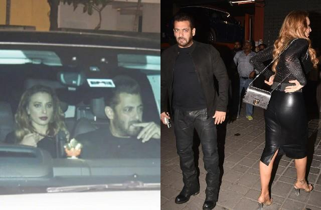 salman khan arrived with iulia vantur at aayush sharma birthday party