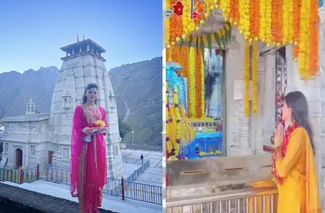 urvashi rautela sara ali khan visit temple on navratri