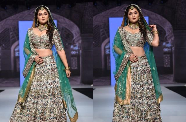 rashmi desai looking gorgeous in green lehenga