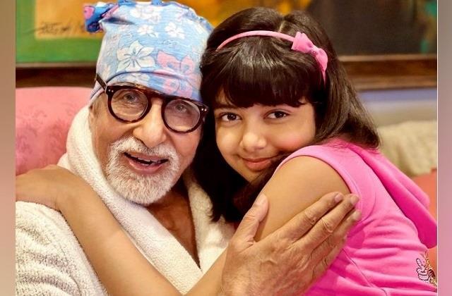 aishwarya rai share cute picture of aaradhya with dadu amitabh bachchan