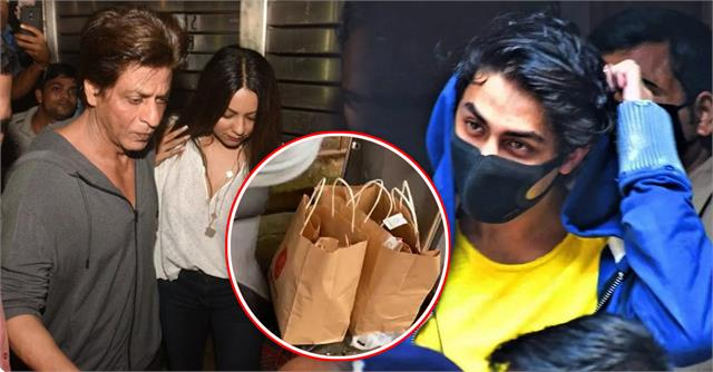 aryan khan gets lentil rice in ncb custody mother reaches office with burger