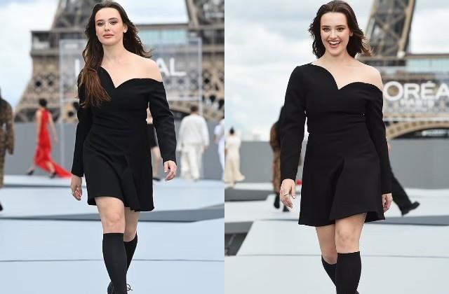 katherine langford walked on ramp in paris fashion week 2021