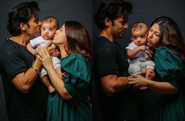 mohit malik shares photos with wife addite malik and son ekbir malik