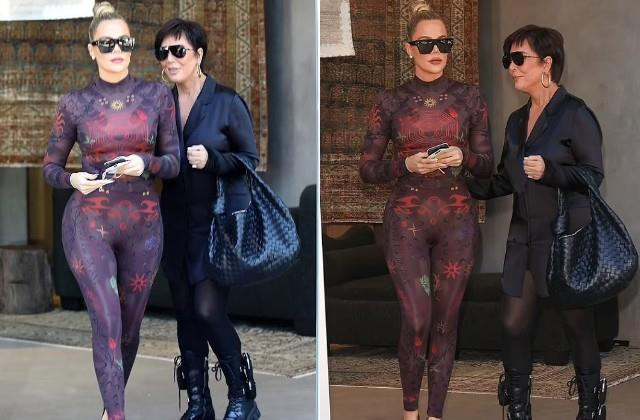 khloe kardashian spotted with mother kris jenner in los angeles