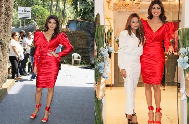 Pics: हुस्न की मल्लिका बन स्टोर लाॅन्च में पहुंची शिल्पा शेट्टी, 'मिसेज कुंद्रा' के रेड लुक ने मचाया बवाल