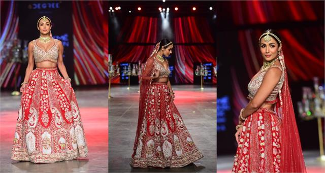 lakme fashion week 2021 malaika arora gave bridal look goals