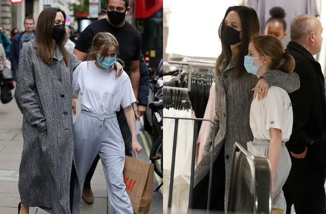 brad pitt ex wife and actress angelina jolie spotted with daughter vivienne