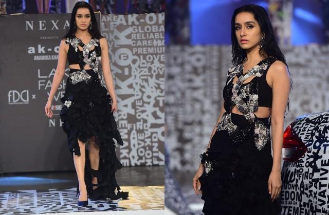 shraddha kapoor looks stunning at lakme fashion week