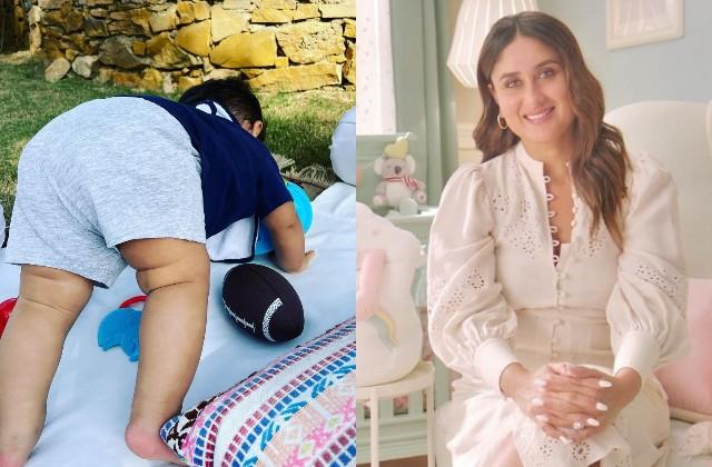 kareena kapoor shares 8 months jeh ali khan yoga photo