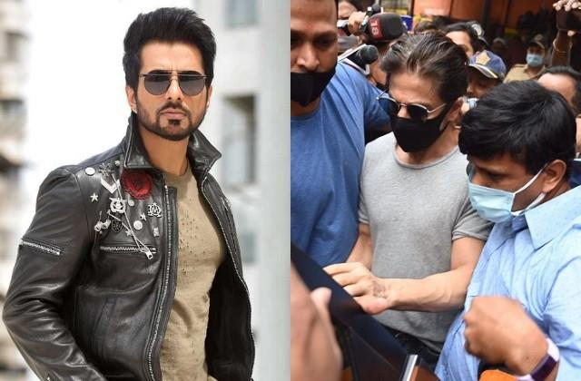 sonu sood enraged to see shahrukh surrounded by the media during met to aryan