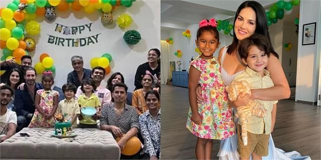 sunny leone celebrates daughter nisha kaur 6th birthday