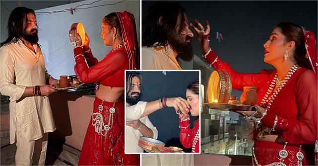 sapna choudhary share karva chauth celebration photos