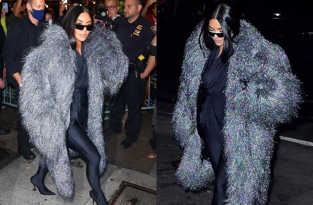 kim kardashian snapped while dinner with snl cast