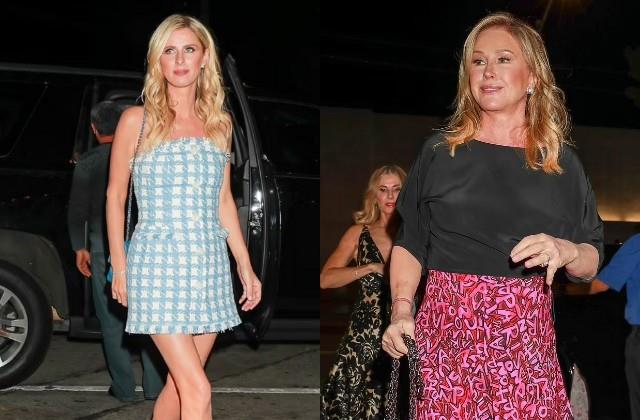 nicky hilton spotted with mom kathy while dinner in la