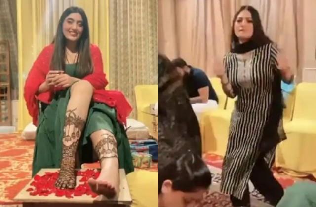 krishna mukherjee arrives shireen mirza s mehendi ceremony