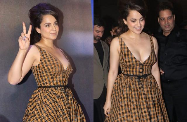 kangana looked bold during promotion of  dhaakad
