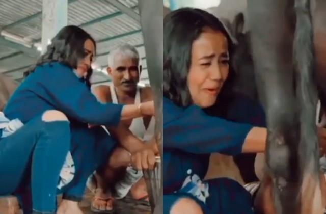neha kakkar seen milking buffalo milk video viral