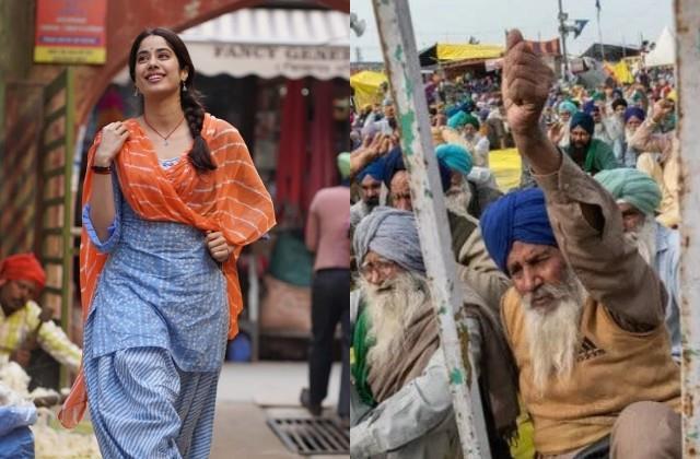 किसानों ने फिर रोकी जान्हवी की फिल्म 'गुड लक जैरी' की शूटिंग, होटल के बाहर लगाए नारे और मांगा आंदोलन के लिए समर्थन