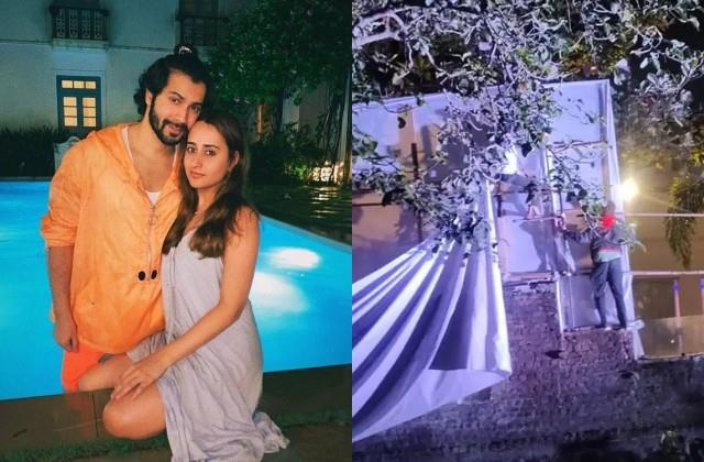 varun dhawan natasha dalal wedding preparation at alibag