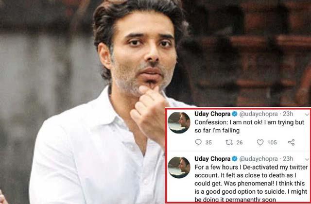when uday chopra tweet about suicide