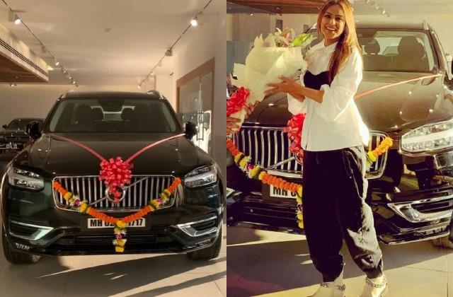 nia sharma purchased new volvo car worth more than 80 lakh rupees
