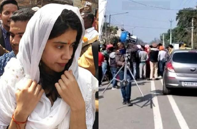 punjab farmers disturbed the shooting of janhvi kapoor s good luck jerry