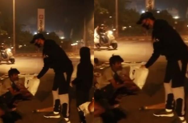 raj kundra with son viaan giving blankets poor people video viral on internet