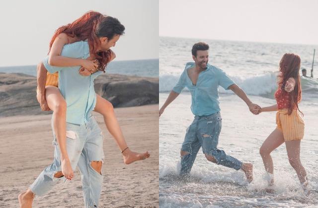 समंदर किनारे मिस्ट्री गर्ल को कंधे पर उठा आमिर अली ने दिए रोमांटिक पोज,रेमो डिसूजा ने कहा-'अरे...