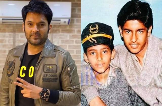 kapil sharma shared 28 years old photo with brother ashok sharma