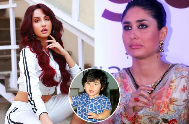 nora fatehi wants to marry with taimur this is how kareena reacted