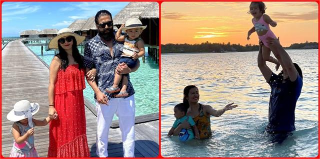 yash enjoying vacation with family in maldives