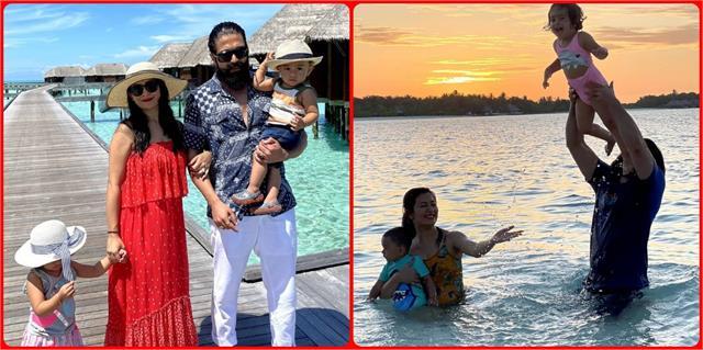 बीवी और बच्चों संग मालदीव पहुंचे केजीएफ स्टार यश, कभी बीच किनारे तो कभी समुद्र में चिल करते आए नजर