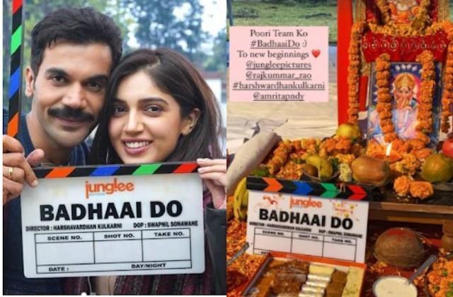 bhumi pednekar and rajkumar rao starts film badhaai do shooting